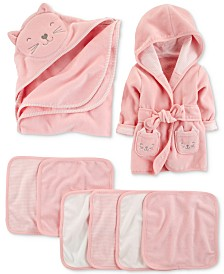 Carter's Baby Girls Cat Bath Time Separates