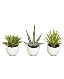 Nearly Natural 3-Pc. Southwest Plant Collection