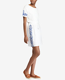 Lauren Ralph Lauren Kimono-Sleeve Cotton Dress