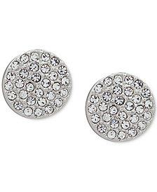 DKNY Pavé Disc Stud Earrings