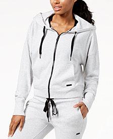 Calvin Klein Performance Cropped Jersey Zip Hoodie
