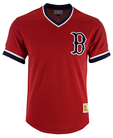 Mitchell & Ness Men's Boston Red Sox Mesh V-Neck Jersey
