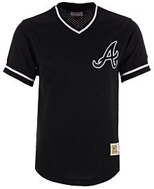 Mitchell & Ness Men's Atlanta Braves Mesh V-Neck Jersey