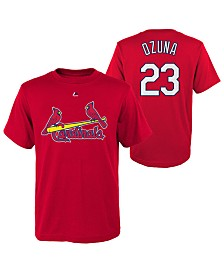 Majestic Marcell Ozuna St. Louis Cardinals Official Player T-Shirt, Big Boys (8-20)