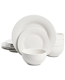 Martha Stewart Essentials Rim 12-Pc. Dinnerware Set, Created for Macy's