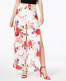 Material Girl Juniors' Printed Split Wide-Leg Pants, Created for Macy's