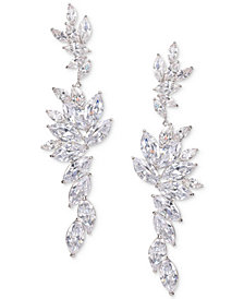 Nina Silver-Tone Layered Cubic Zirconia Drop Earrings