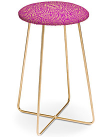 Deny Designs Jacqueline Maldonado Raspberry Counter Stool
