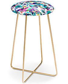Deny Designs Ninola Design Aquatic Flowers Counter Stool