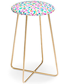 Deny Designs Ninola Design Confetti Flowers Counter Stool
