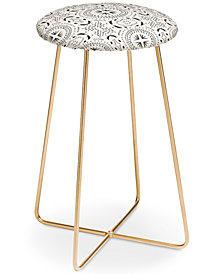 Deny Designs Holli Zollinger Mandala Tile Light Counter Stool
