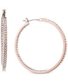 """Givenchy Pavé 1 1/4"""" Medium Hoop Earrings"""