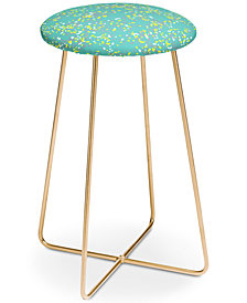 Deny Designs Rachael Taylor Mint Confetti Counter Stool
