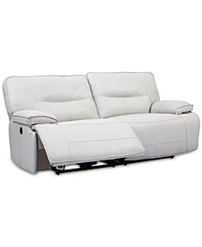 Mantella 83 Leather Sofa With Recliners And Usb Outlet