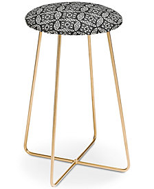 Deny Designs Little Arrow Design Co Modern Moroccan in Charcoal Counter Stool