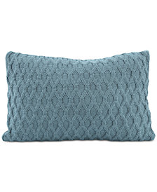 "Berkshire Diamond-Knit 12"" x 18"" Decorative Pillow"