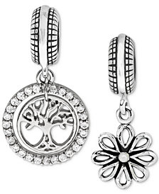 Rhona Sutton 2-Pc. Set Tree of Life & Daisy Blossom Bead Charms in Sterling Silver