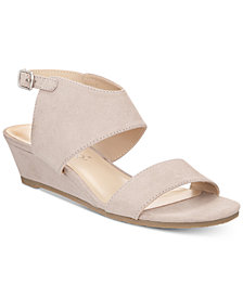 Callisto Bronzer Slingback Wedge Sandals