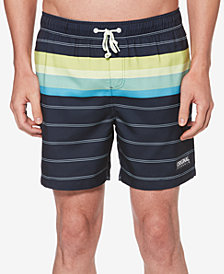 "Original Penguin Men's Engineered Striped 6"" Swimsuit"