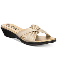 Callisto Staunton Slide Wedge Sandals, Created for Macy's
