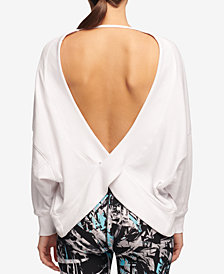 DKNY Sport Relaxed Open-Back Sweatshirt, Created for Macy's