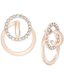 Steve Madden Interlock Crystal Pavé Interlocking Drop Earrings