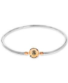 Rhona Sutton Snake Chain Charm Bracelet in Sterling Silver