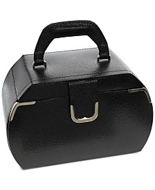 Rhona Sutton Black Medium Rounded Jewelry Case