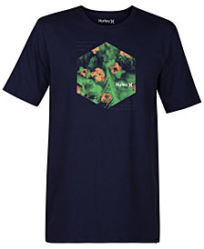 Hurley Men's Watercolor Graphic-Print T-Shirt