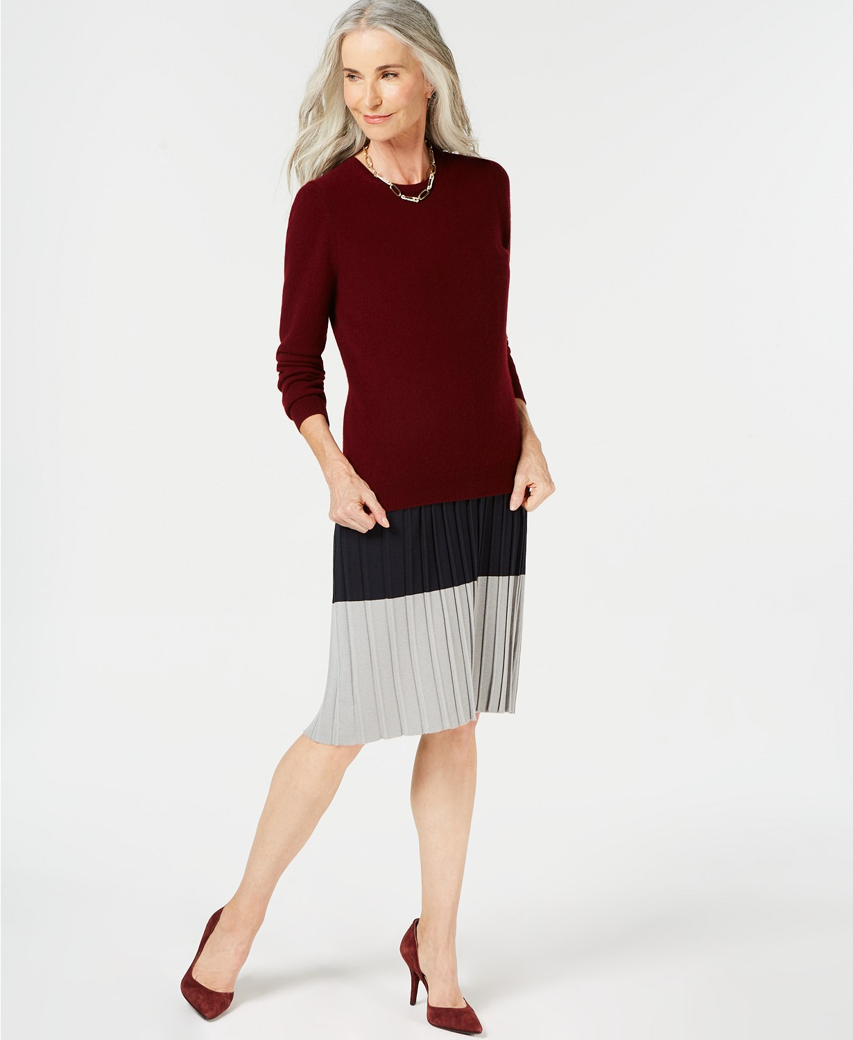Save 64% on Charter Club Pure Cashmere Solid Crewneck Sweater in Regular & Petite Sizes