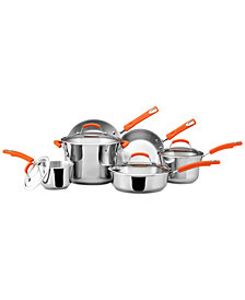 Rachael Ray Classic Brights Stainless Steel 10-Pc. Cookware Set