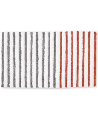 "Parsons Cotton Colorblocked Stripe 21"" x 34"" Bath Rug"