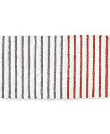 "DKNY Parsons Cotton Colorblocked Stripe 21"" x 34"" Bath Rug"