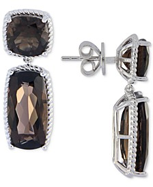 Smoky Topaz Drop Earrings (14 ct. t.w.) in Sterling Silver