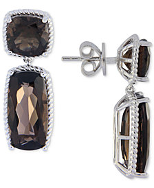 Smoky Topaz Drop Earrings (14 ct. t.w.) in Sterling Silver