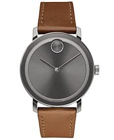 Men's Swiss BOLD Evolution Cognac Leather Strap Watch 40mm