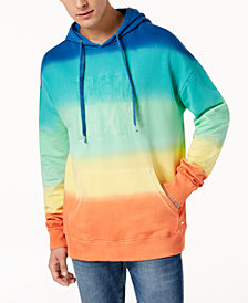 GUESS Men's Finch Rainbow Hoodie