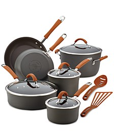 Cucina 12-Pc. Hard-Anodized Aluminum Non-Stick Cookware Set