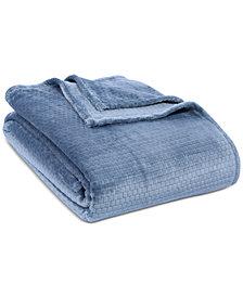 """Berkshire VelvetLoft Textured Grid 108"""" x 90"""" King Bed Blanket"""