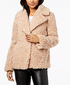 kensie Faux-Fur Chubby Coat