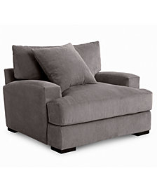 "Rhyder 49"" Fabric Armchair, Created For Macy's"