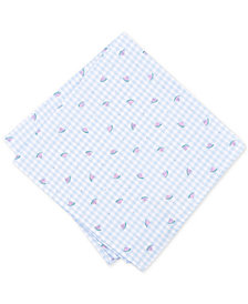 Bar III Men's Watermelon Gingham Pocket Square, Created for Macy's