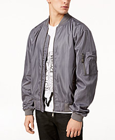 Versace Men's Embroidered Logo Bomber Jacket