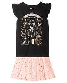 Epic Threads Little Girls Graphic-Print T-Shirt & Heart-Print Skirt, Created for Macy's