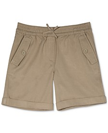 Big Girls Cuffed Twill Shorts