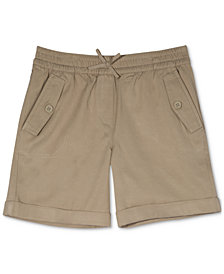 Nautica Big Girls Plus Cuffed Twill Shorts