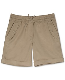 Nautica Big Girls Plus-Size Cuffed Twill Shorts