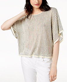 Eileen Fisher Linen Blend Striped Sweater, Regular & Petite
