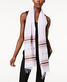 Eileen Fisher Printed Organic-Cotton Scarf