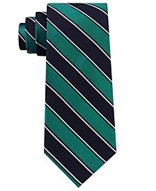 Club Room Men's Texture Stripe Silk Tie, Created for Macy's